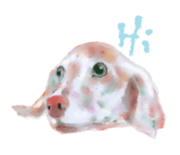 Watercolor of dog and cat sticker #6341692