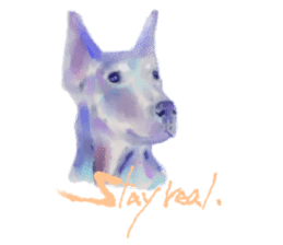 Watercolor of dog and cat sticker #6341698