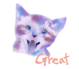 Watercolor of dog and cat sticker #6341699