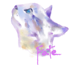Watercolor of dog and cat sticker #6341702