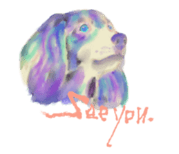 Watercolor of dog and cat sticker #6341708