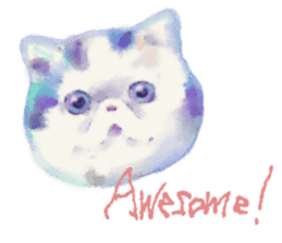 Watercolor of dog and cat sticker #6341710