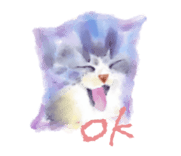Watercolor of dog and cat sticker #6341721