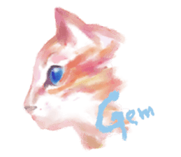Watercolor of dog and cat sticker #6341726