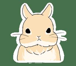 Cute rabbit life sticker #6366314