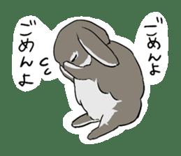Cute rabbit life sticker #6366317