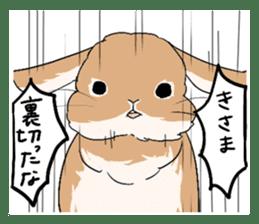 Cute rabbit life sticker #6366320