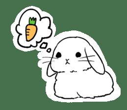 Cute rabbit life sticker #6366322