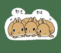 Cute rabbit life sticker #6366327