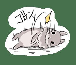 Cute rabbit life sticker #6366330