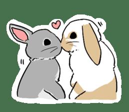Cute rabbit life sticker #6366335