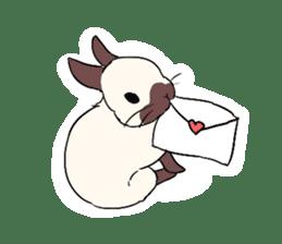 Cute rabbit life sticker #6366336