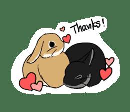 Cute rabbit life sticker #6366337