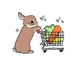 Cute rabbit life sticker #6366340