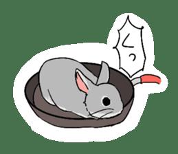 Cute rabbit life sticker #6366344