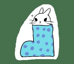 Cute rabbit life sticker #6366346