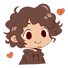 Boy with curly hair sticker #6366833
