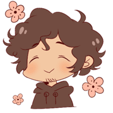 Boy with curly hair sticker #6366836