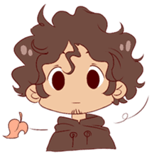 Boy with curly hair sticker #6366837