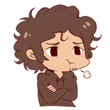 Boy with curly hair sticker #6366841