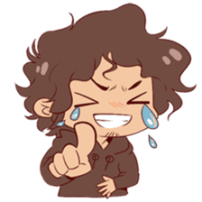 Boy with curly hair sticker #6366844
