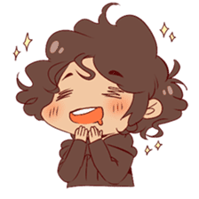 Boy with curly hair sticker #6366849