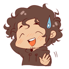 Boy with curly hair sticker #6366854