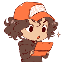 Boy with curly hair sticker #6366855
