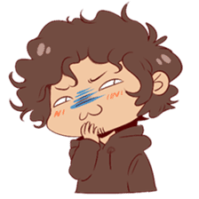 Boy with curly hair sticker #6366858