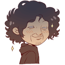 Boy with curly hair sticker #6366866