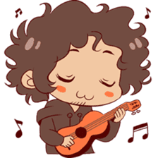 Boy with curly hair sticker #6366867