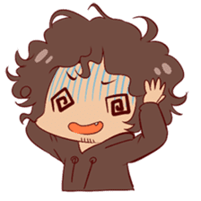 Boy with curly hair sticker #6366869
