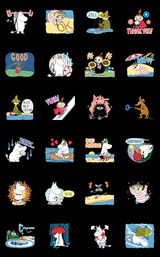 สติ๊กเกอร์ไลน์ Moomin: Animated Summer Stickers