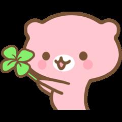 Happy pink bear