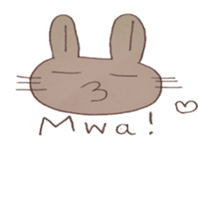 The Rabbit always with you sticker #6377956