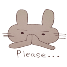 The Rabbit always with you sticker #6377966