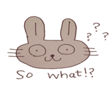 The Rabbit always with you sticker #6377980