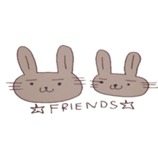 The Rabbit always with you sticker #6377981