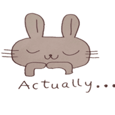 The Rabbit always with you sticker #6377984