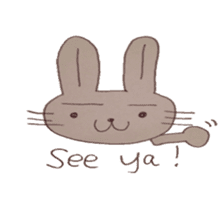 The Rabbit always with you sticker #6377990