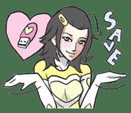AsB - Kokoro 7 Heart Ranger (Love Pink) sticker #6385061