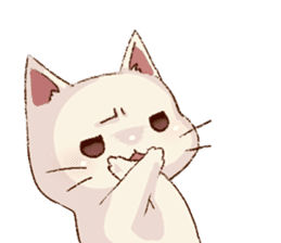 frown cat sticker #6386129