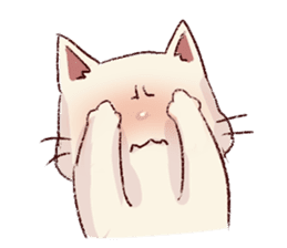 frown cat sticker #6386133