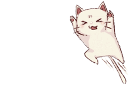 frown cat sticker #6386154