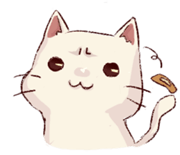 frown cat sticker #6386158