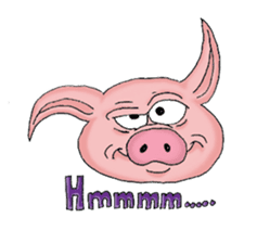 Piggie the Pig sticker #6393373