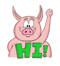Piggie the Pig sticker #6393381