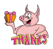 Piggie the Pig sticker #6393382