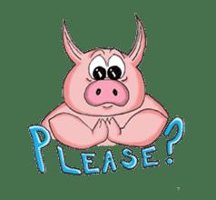 Piggie the Pig sticker #6393387