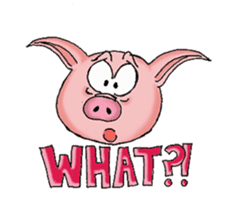 Piggie the Pig sticker #6393392